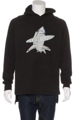 Baja East Shark Graphic Pullover Hoodie