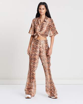 Missguided Snake Print Shirt And Trousers Co-Ord Set