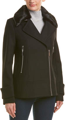 Laundry by Shelli Segal Twill Wool-Blend Coat