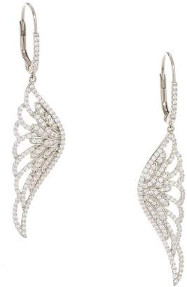Diamonique Angel Wing Earrings, Sterling or 18K Gold Plated