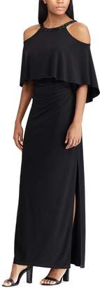 Chaps Women's Embellished Blouson Evening Gown