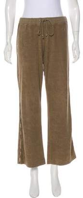 Burberry Terry Cloth Mid-Rise Track Pants