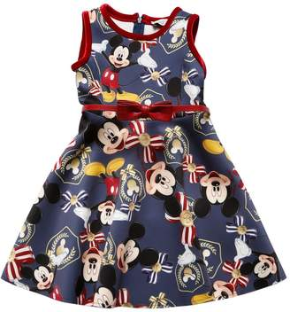 MonnaLisa Mickey Mouse Print Neoprene Dress