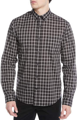 Vince Men's Two-Tone Plaid Pocket Sport Shirt