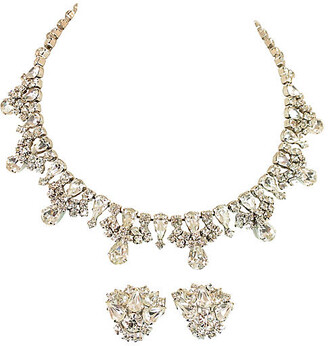 One Kings Lane Vintage 1950s Kramer Crystal Necklace Suite - Neil Zevnik