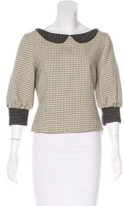 Lela Rose Collared Wool Top