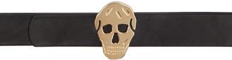 Alexander McQueen Black & Gold 3D Skull Belt $365 thestylecure.com