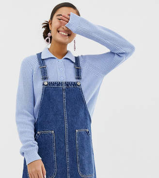 1544d2cf2e9f Monki denim dungaree dress with organic cotton in blue