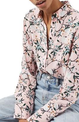 Women's Topshop Cherry Blossom Shirt $60 thestylecure.com