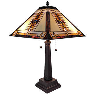 Tiffany & Co. AMORA Amora Lighting AM099TL14 Style Mission Design Table Lamp 22 In