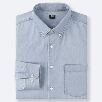 Uniqlo Men's Denim Long-sleeve Shirt
