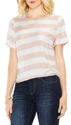 Vince Camuto Striped Cropped Top