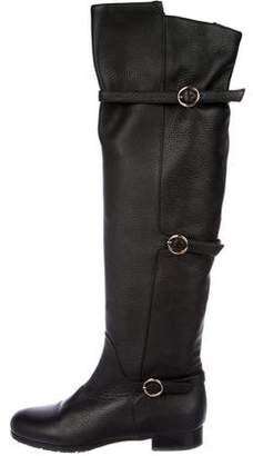 O Jour Leather Over-The-Knee Boots