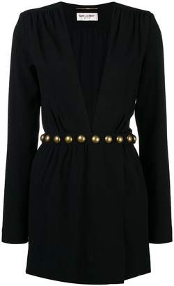 Saint Laurent deep v-neck dress