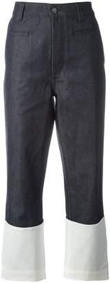 Loewe colour block denim pants