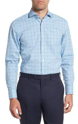 BOSS Mark Sharp Fit Plaid Dress Shirt