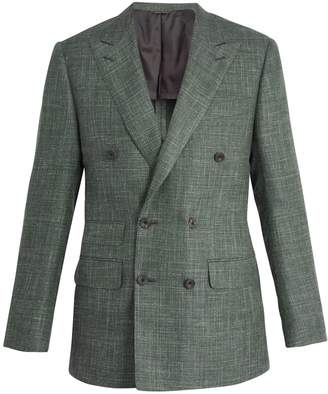 THOM SWEENEY Peak-lapel wool-blend blazer