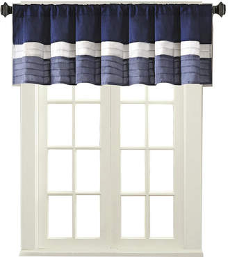 Madison Park Amador Polyoni Pintuck-Striped Rod-Pocket Valance