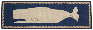 L.L. Bean L.L.Bean Wool Hooked Runner, White Whale