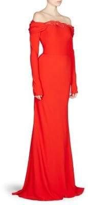 Alexander McQueen Women's Draped Off-The-Shoulder Gown - Black - Size 40 (4)