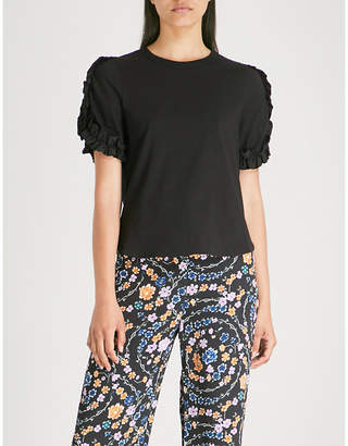 See by Chloe Embellished cotton-jersey T-shirt
