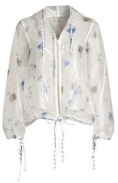 Ganni Petunia Transparent Zip Jacket