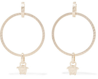 Versace - Medusa Gold-tone Hoop Earrings