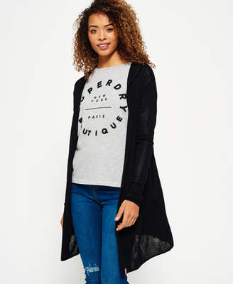 Superdry Rayon Hooded Cardigan