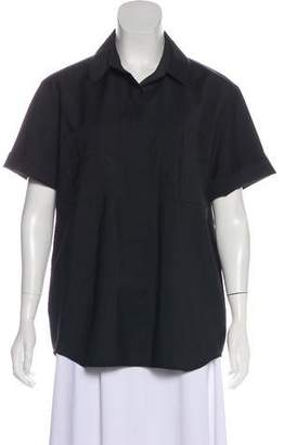 Reed Krakoff Wool Short Sleeve Top
