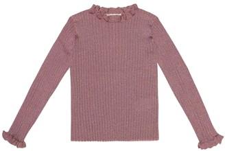 Bonpoint Ribbed metallic wool-blend sweater