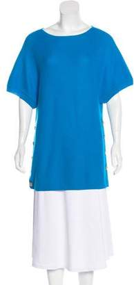 St. John Wool Short Sleeve Sweater