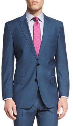 Boss Hugo Boss Huge Genius Slim-Fit Basic Suit, Teal $995 thestylecure.com