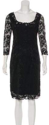 Josie Natori Knee-Length Lace Dress