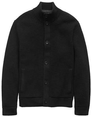 Banana Republic Cotton Waffle-Knit Cardigan Sweater