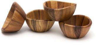Lipper Wave 4-pc. Acacia Wood Serving Bowl Set