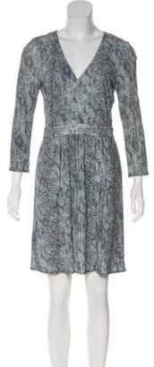 Tory Burch Printed V-Neck Dress