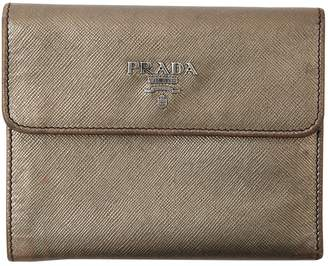 Prada Metallic Leather Wallets