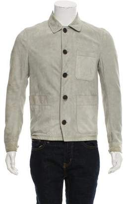 Burberry Three-Pocket Suede Jacket