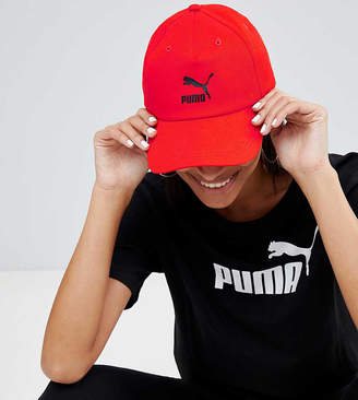 Puma Exclusive Logo Cap With Taping In Red