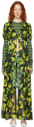 Marc Jacobs Green Redux Grunge Button-Down Dress
