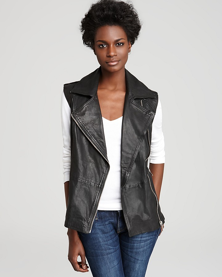 Aqua Leather Vest