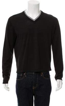 Michael Kors Woven V-Neck Sweater
