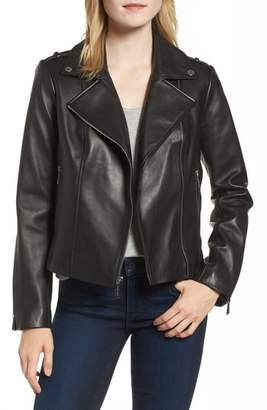 MICHAEL Michael Kors Classic Leather Moto Jacket