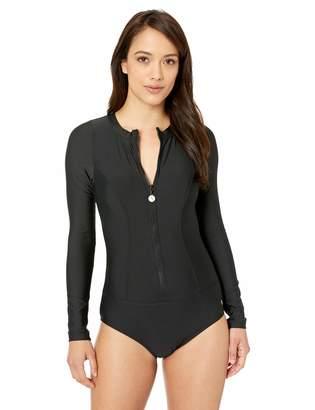 Next Women's Long Sleeve Malibu Zip One Piece Swimsuit