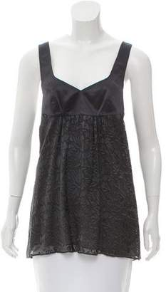 Rebecca Taylor Fil-Coupe Sleeveless Top