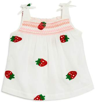 Design History Girls' Strawberry-Embroidered Top