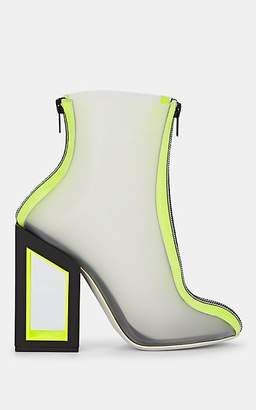 Nicholas Kirkwood Women's Void Vinyl Ankle Boots - Acid Yellow