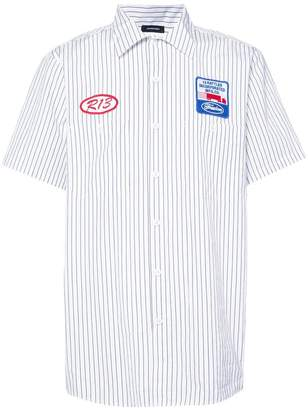 R 13 striped shirt with patches