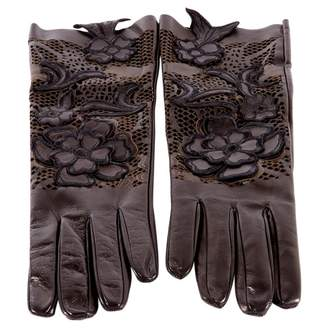 Valentino Leather long gloves