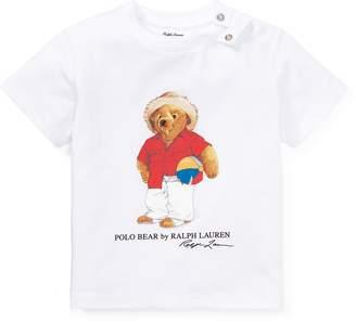Ralph Lauren Beach Ball Bear Cotton T-Shirt